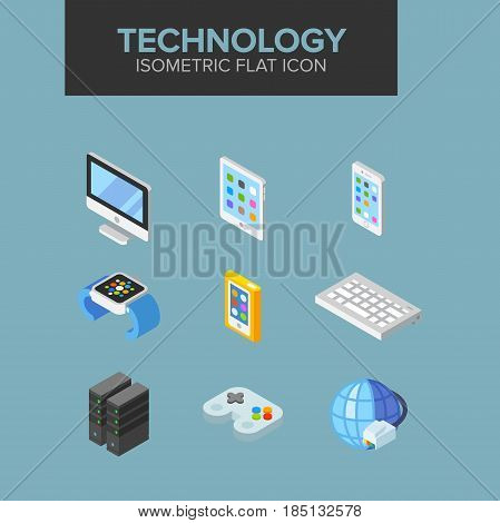 technology isometric icon. Fully editable Illustration vector