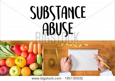 Substance Abuse Doctor Hand Working Professional Doctor