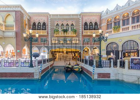 MACAU, CHINA - NOV 11:The Venetian Macao-Resort-Hotel on Nov 11, 2015 in Macau. This is a major tourist attraction in Macau.