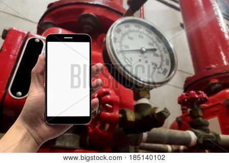 Blurry image pump booster fire control system background
