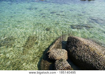 natural rock formation, clear beach, belitung, indonesia