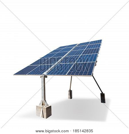 solar panel isolated on white with clipping path