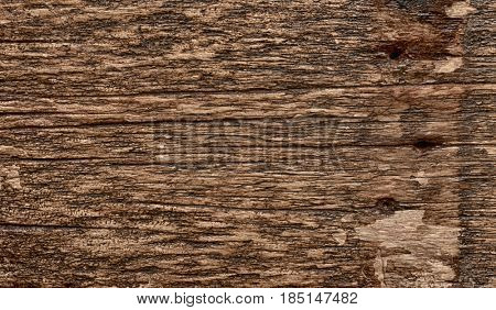 Old wooden surface, dark grunge texture, toned image