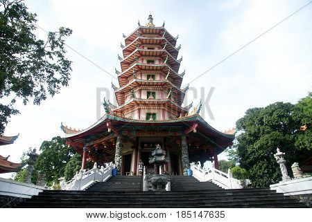 Pagoda Avalokitesvara is located in Semarang, Indonesia