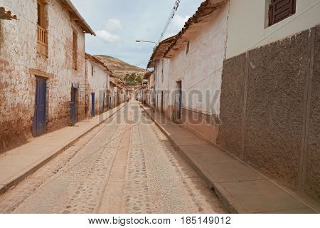 Brown Houses On Old Peruvian City