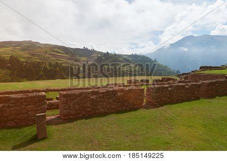 Ruins In Peruvian Landscape