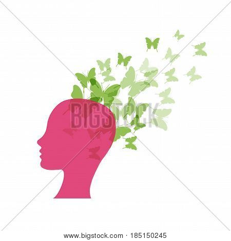 Vector concept imagination and optimism, isolated illustration on white