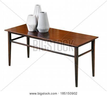 Small Rectangular Mahogany Coffee Table
