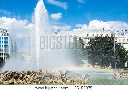 Hochstrahlbrunnen Fountain, Soviet War Memorial (heldendenkmal Der Roten Armee, Heroes Monument Of R