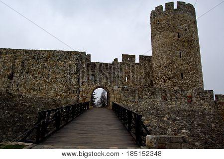 21 may 2009-belgrado-serbia- Ancient castle in the city of belgrade in serbia