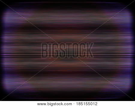 Curved interlaced tv screen illustration background hd