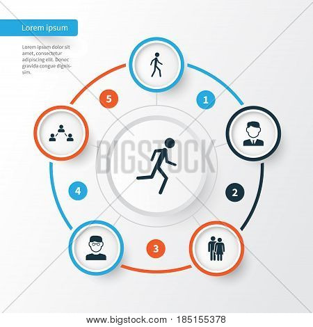 Human Icons Set. Collection Of Scientist, Beloveds, Work Man And Other Elements. Also Includes Symbols Such As Relation, Running, Businessman.