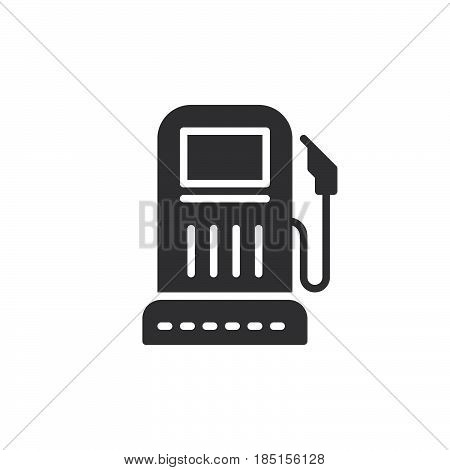 Gas station icon vector filled flat sign solid pictogram isolated on white. Symbol logo illustration. Pixel perfect