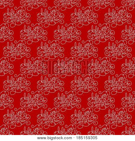Holiday seamless pattern with hand lettering All you need is Love. Vector illustration for your design