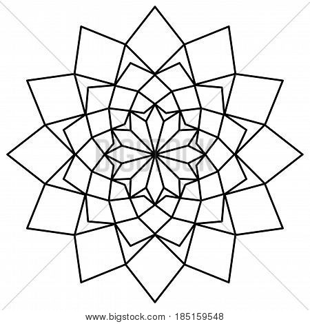 Simple Mandala black and white logo template
