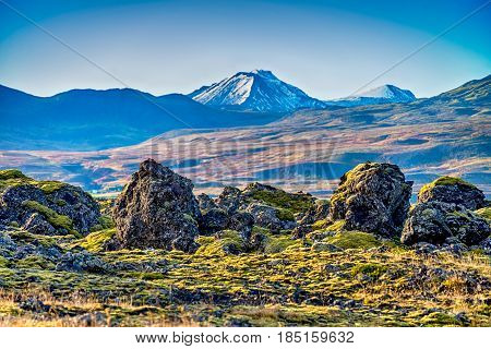 Colourful  and beautiful Icelandic landscape in northern Europe