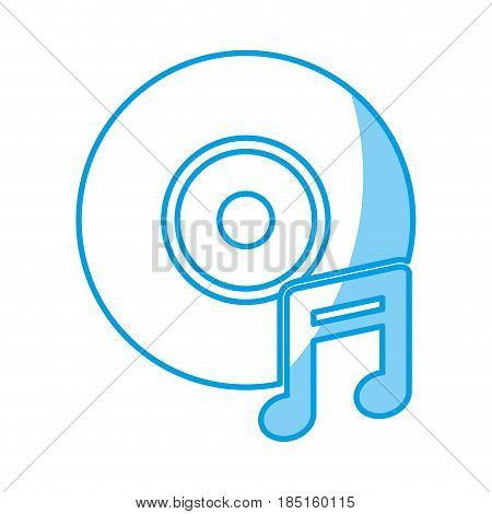 longplay and musical note icon over white background. vector illustration