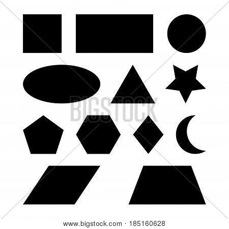 Geometric Shapes Vector Symbol Icon Design.