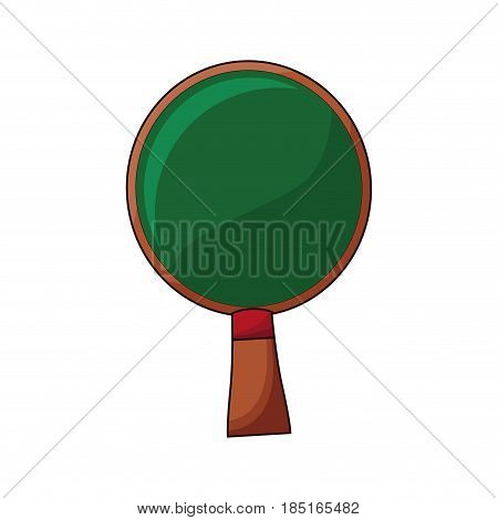 wooden racket ping pong game vector illustration