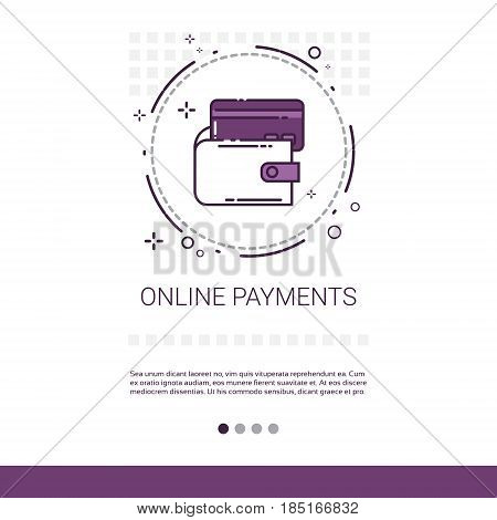 Online Payment Credit Card Service Mobile Transaction Banner Vector Illustration