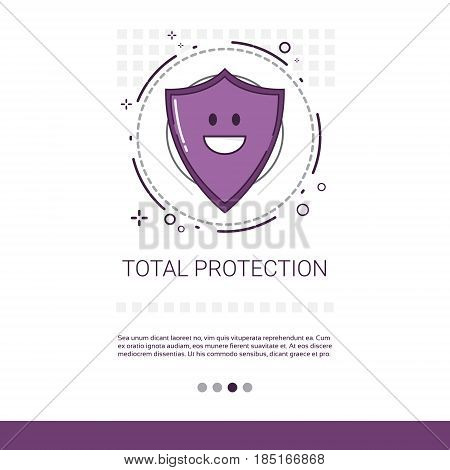 Total Data Protection Privacy Internet Information Network Security Vector Illustration