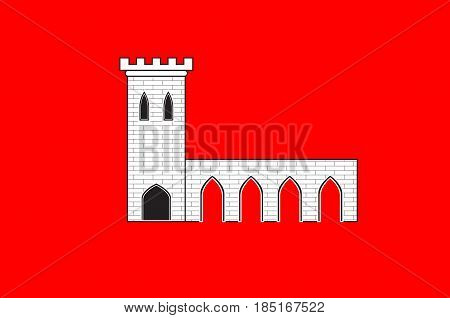 Flag of Pontarlier is a commune and one of the two sub-prefectures of the Doubs department in the Bourgogne-Franche-Comte region in eastern France. Vector illustration