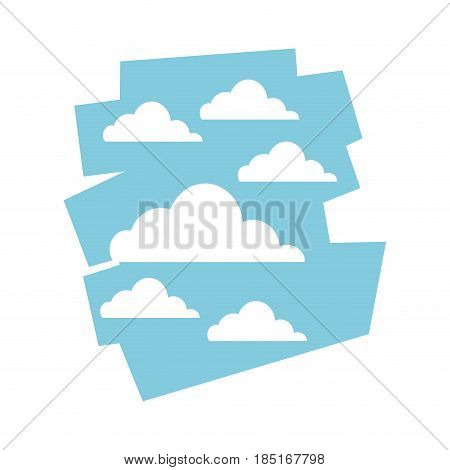 cloud sky day view heaven image vector illustration