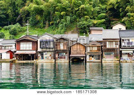 Seaside town of Ine cho in Kyoto
