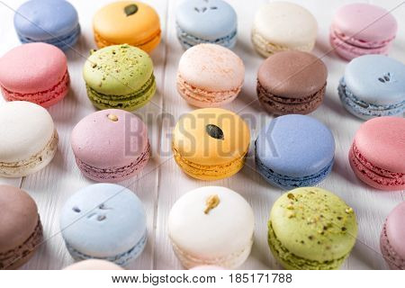 Traditional Colorful French Macarons