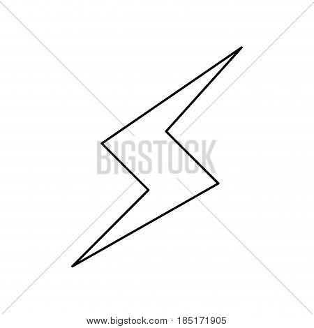 thunderbolt lightning power energy line vector illustration