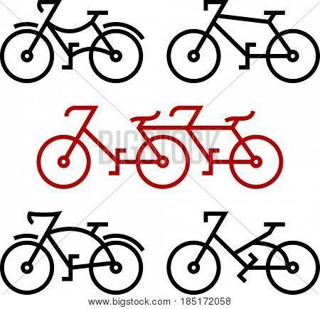 Bicycle Icon  Raster Illustration