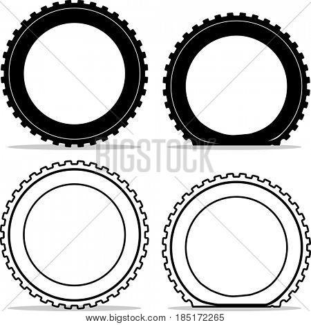 Tyre Repair Icon  Raster Illustration