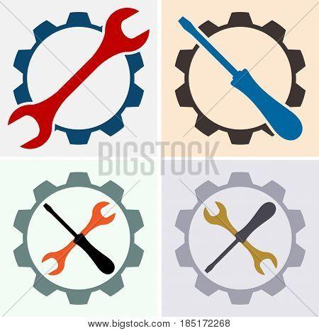 Service Icon  Raster Illustration