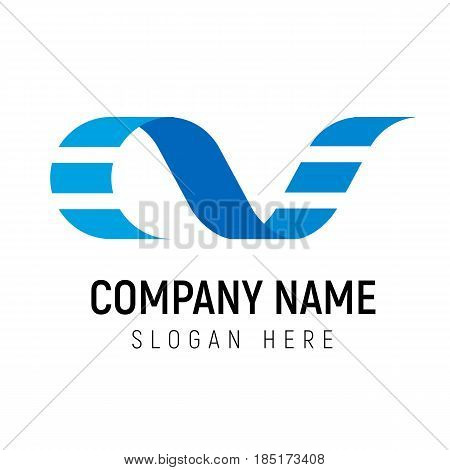 Film strip logo vector template. Logotype may be used for media business, movie production company or cinema critique. AF initial letters.