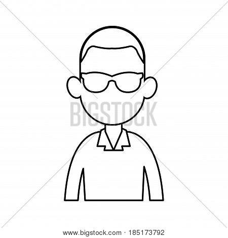 portrait man no face avatar image vector illustration