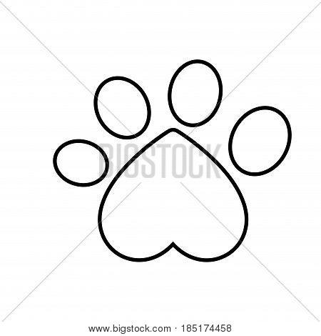 dog paw print icon over white background. vector illustration