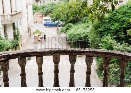 Wooden Balcony Fencing