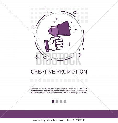 Creative Promotion Sale Shopping Banner With Copy Space Thin Line Vector Illustration