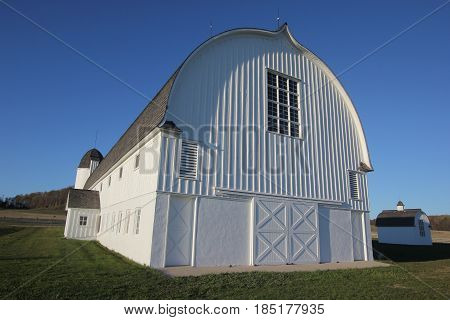 A white barn in Sleeping Bear Dunes National Lakeshore, Michigan