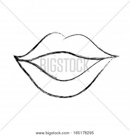 sexy female lips icon vector illustration design