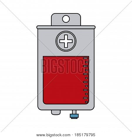 color image cartoon bag for blood donation vector illustration