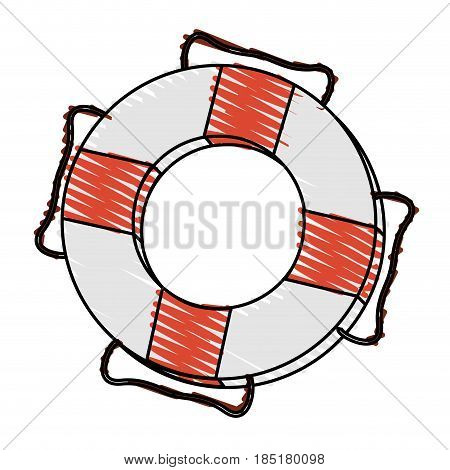 color crayon stripe inflatable rings for rescue vector illustration
