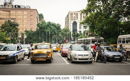 Street In Kolkata (calcutta), India