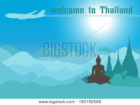 Welcome to Thailand .Travel design with Temple. Time to Thailand travel, discover new places, tour guide traveling agency