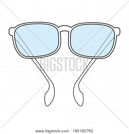 color silhouette image sunglasses fashion accesory vector illustration