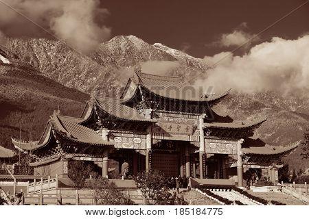 Chongsheng Monastery portal in Dali, Yunnan, China