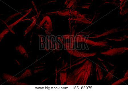 Abstract red black background. Black and red abstraction. Black and red. Artistic background. Art. Passion background. Drama background.