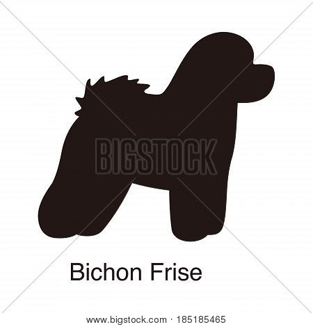 Bichon Frise Dog Silhouette, Side View, Vector