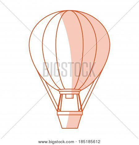 red silhouette shading image hot air balloon vector illustration