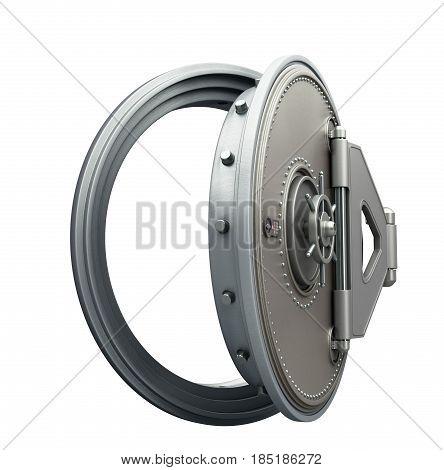 Big Safe Door With Empty Ingots High Resolution 3D Render Image